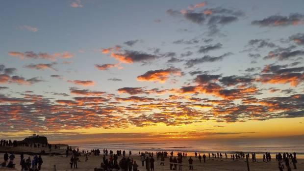 Anzac sunrise Newi